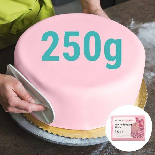 Farbiger Fondant rosa 250 g