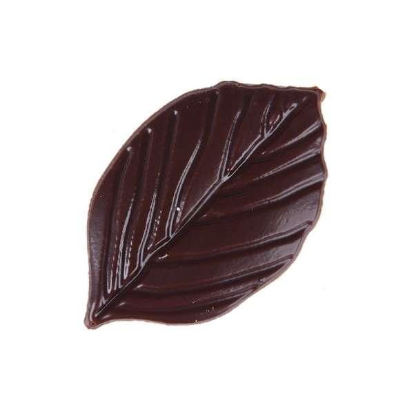 Schokoladenblätter zartbitter mit Prägung 40x25mm 175 Stck