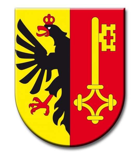 Zuckeraufleger Wappen Genf
