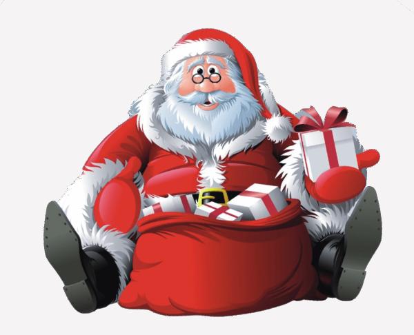 Zuckeraufleger Weihnachtsmann