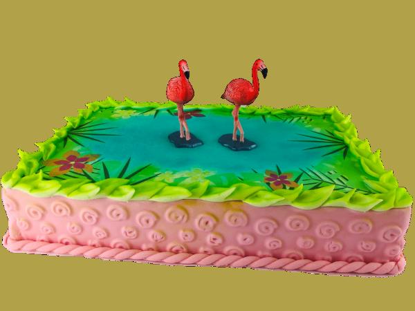 Motivtorte Flamingo mit Tortenbild