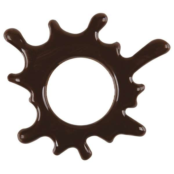 Schokoladendeko Splash zartbitter Größe ca.50mm 75 Stck