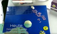Prägematte große Quadrate COXIMUS ca. 300mm x 150mm