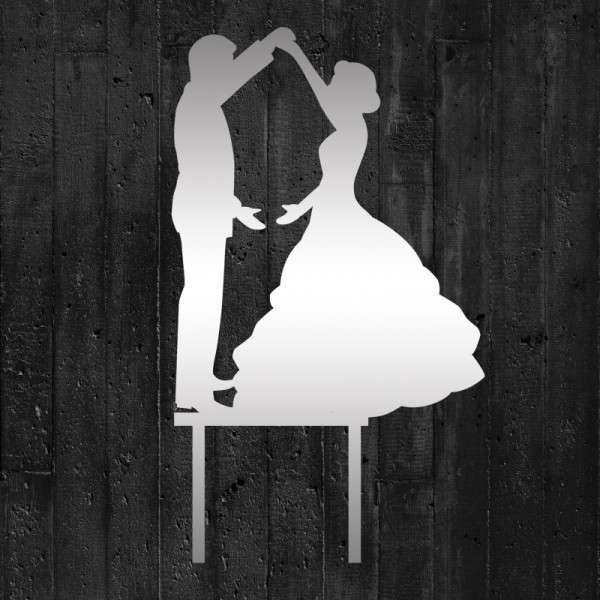 "Cake-Topper ""Brautpaar tanzend"" Acryl Spiegel"