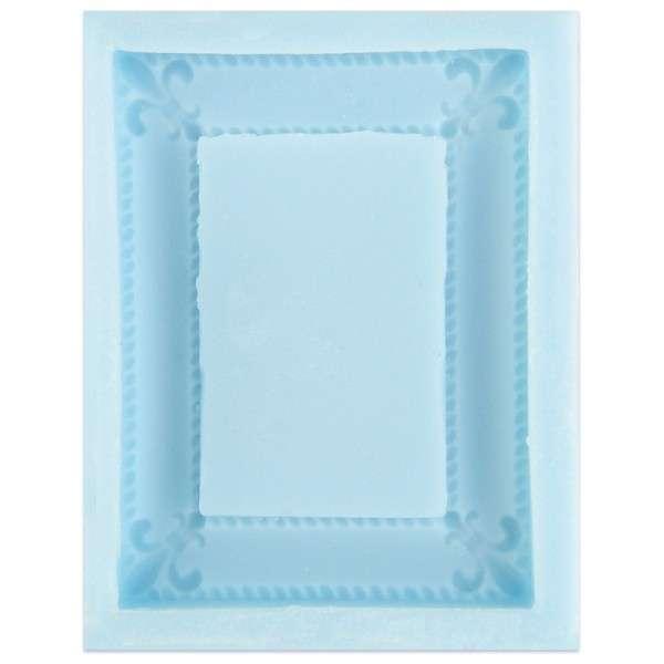 Silikonform Rahmen 4eckig ca. 10,3 x 8,2 x 1,5 cm