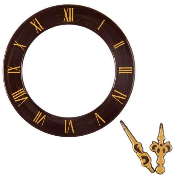 """Schokoladendeko """" Uhr und Zeiger"""" Uhr 110mm Zeiger 65mm 10 Sets"""