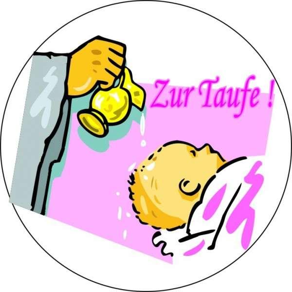 """Tortenaufleger """"Zur Taufe"""" Mädchen 10cm"""