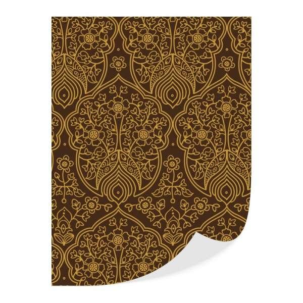 Transferfolie Ornamente und Blüten goldener Druck 30 Blatt je 30 x 40 cm
