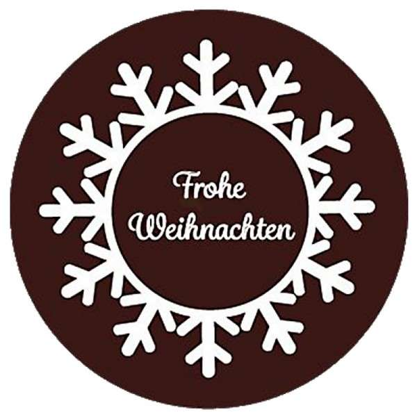 """Schokoladendeko """"Frohe Weihnachten"""" rund 35mm 120 Stck"""
