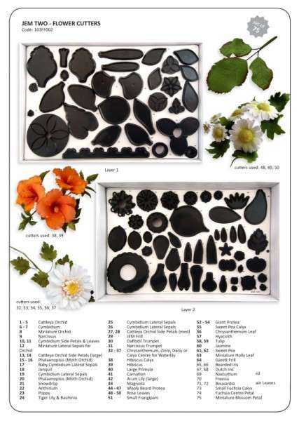 JEM Ausstecher Blumen Set 2 75 teilig