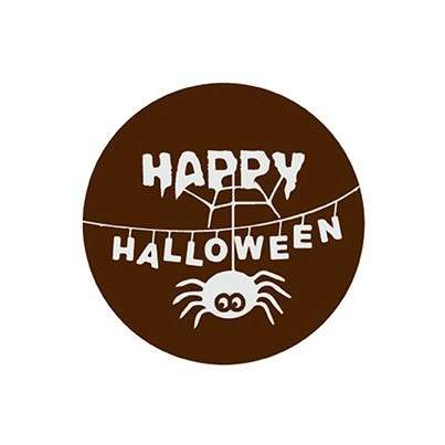 Schokoladendekor Happy Halloween dunkle Schokolade 280 Stck 25mm