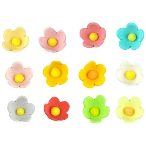 Zuckerdekoration Bunte Blumen