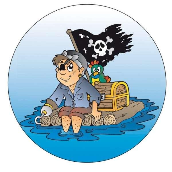 Zuckeraufleger Pirat lustig 100mm 12 Stck
