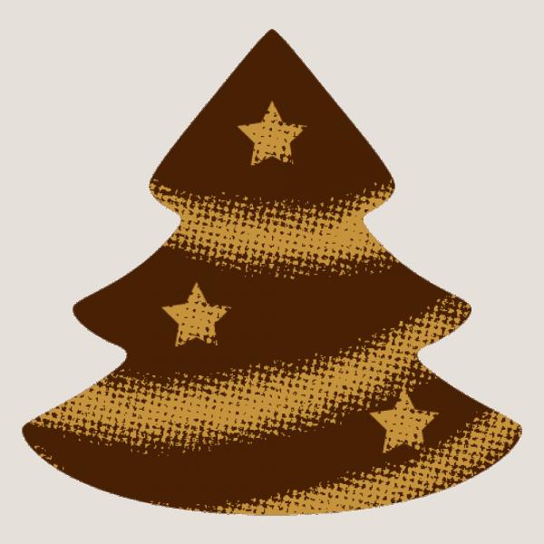 Schokoladendekor Weihnachtsbaum mit Sternen
