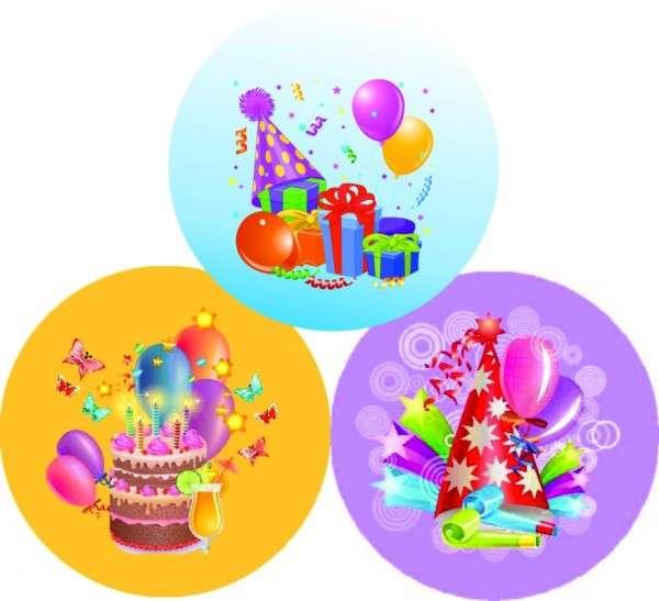 Zuckeraufleger Geburtstag/ Party 10cm