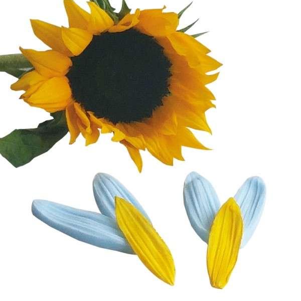 """Veiner """"Sonnenblume Blütenblatt"""" 2 Größen ca. 6 und 7 cm ( Sunflower,petal)"""