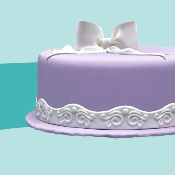 Fondantrand Wellenband Ornamente auf Torte