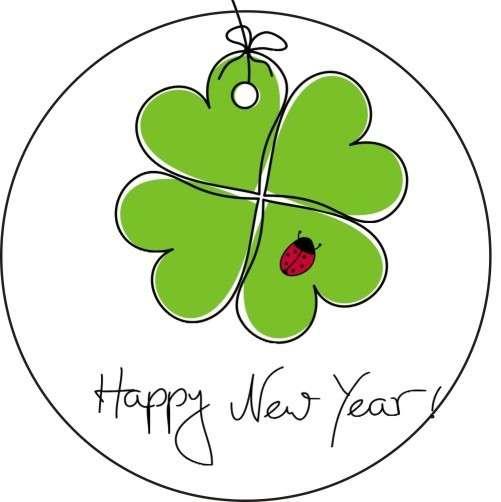 "Tortenaufleger Silvester ""Happy New Year"" 10cm"
