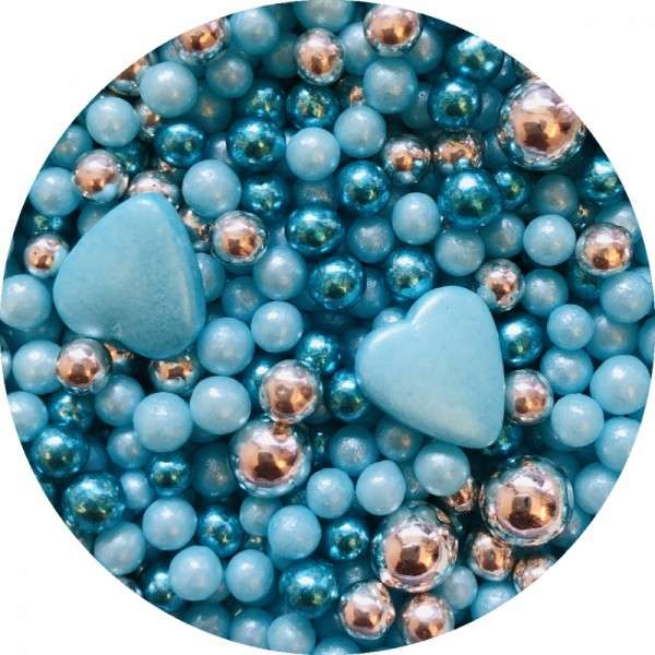 Zuckerherzen Mix blau 1000g
