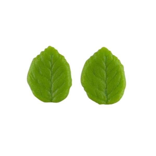 Marzipanblätter, grün, klein 35mm 36 Stck