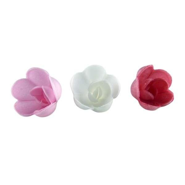 Esspapier Rose klein sortiert ca. 30 mm 72 Stck