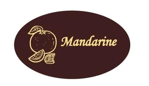 Tortendekoration Schokoladenaufleger Mandarine