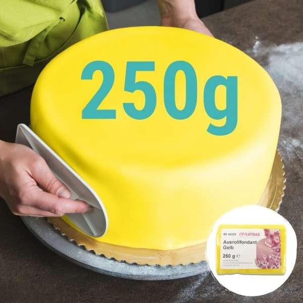 Farbiger Fondant gelb 250 g