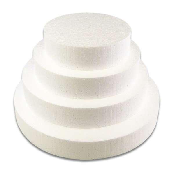 Tortendummy, 4 Ebenen, rund, 240 mm, 80 mm hoch