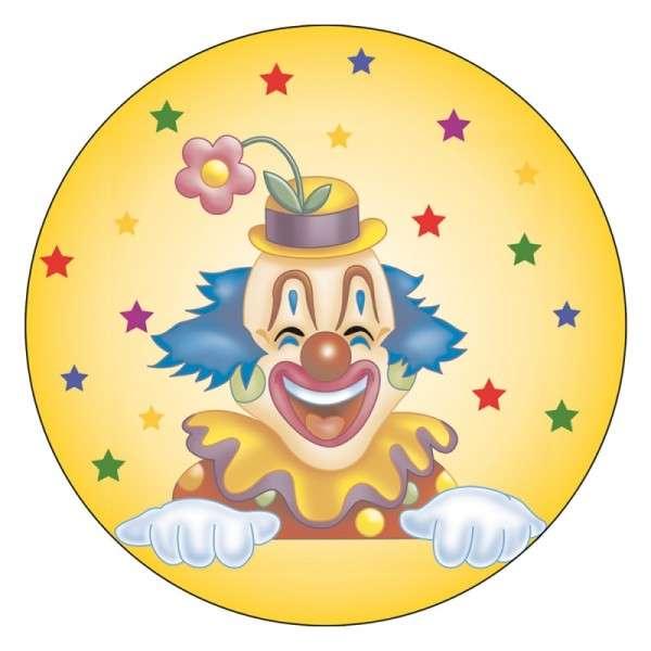 Zuckeraufleger Clown 100mm 12 Stck