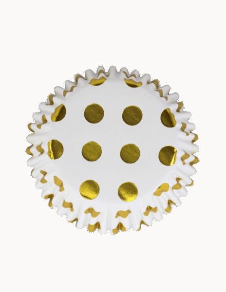 Cupcake Formen goldene Punkte