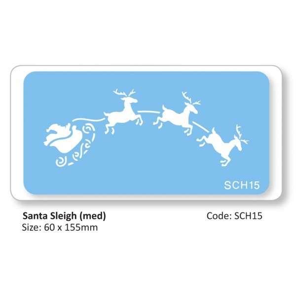 """Schablone """"Rentierschlitten"""" 60×155 mm"""