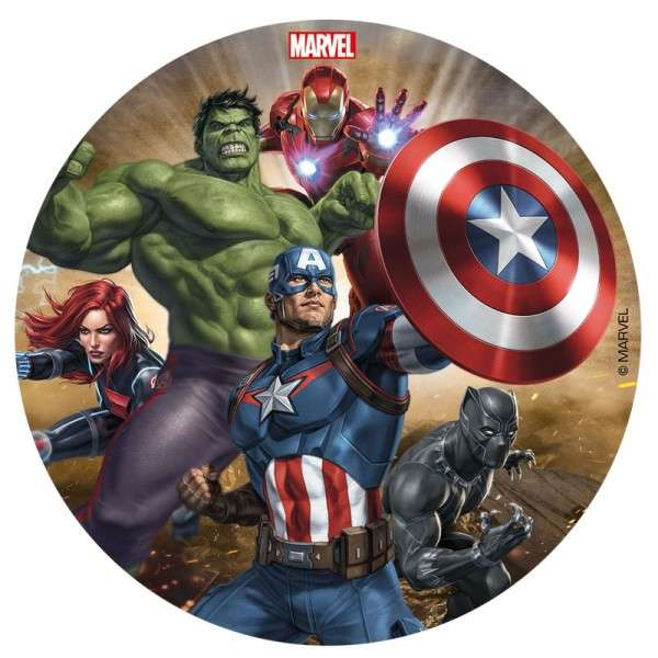 Tortenaufleger Avengers