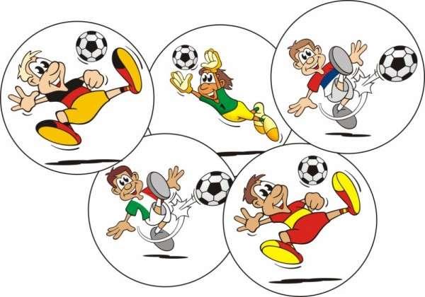 Esspapieraufleger Fussballer lustig 4cm 96Stück