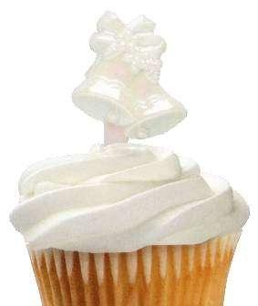 Cup Cake Dekoration Hochzeitsglocke