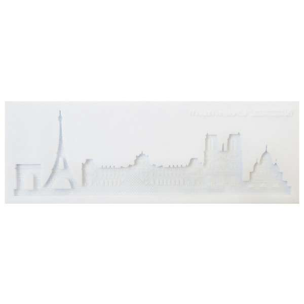 Silikonform Skyline Paris ca. 21 x 7,3 x 0,8 cm