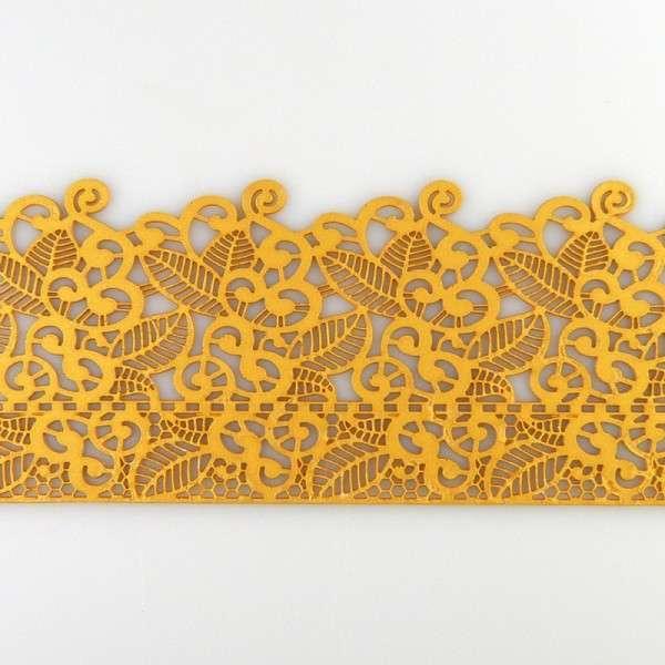 """Sweet lace-pearl gold """"Blüten und Blätter"""" 38x8cm essbare Spitze - fertig zum Gebrauch"""