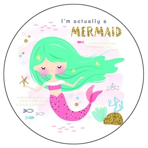 Zuckeraufleger Mermaid Türkis 10 cm