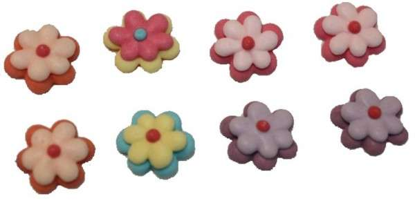 Zuckerdekoration Blumen Bunt
