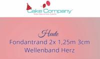 Gebrauchsfertiger Fondantrand Doppelband Blüte 2x1,25m