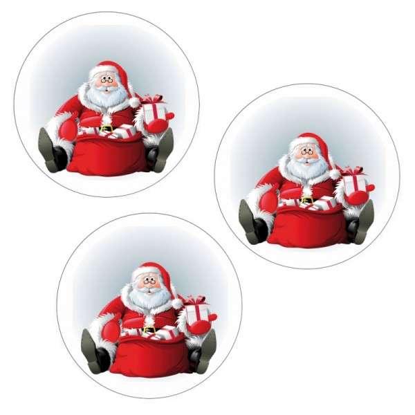 Esspapieraufleger Weihnachtsmann-Brille 4cm 1000Stück