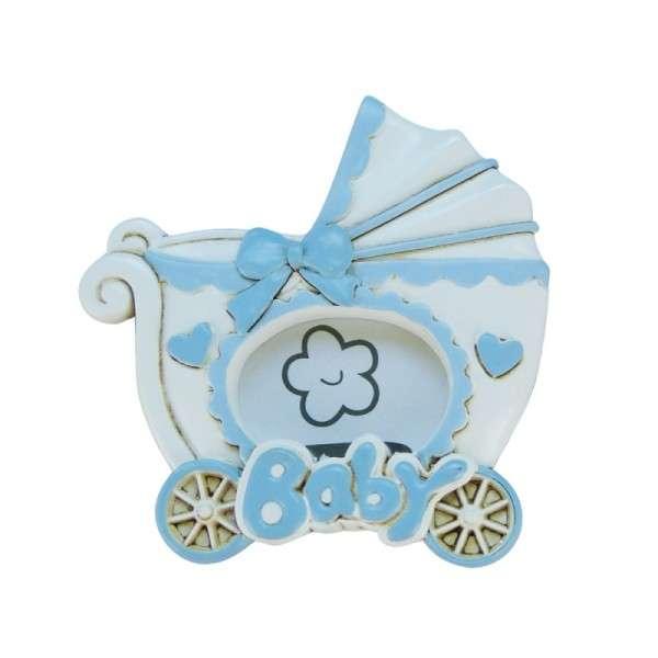 Baby-Fotorahmen Kinderwagen blau