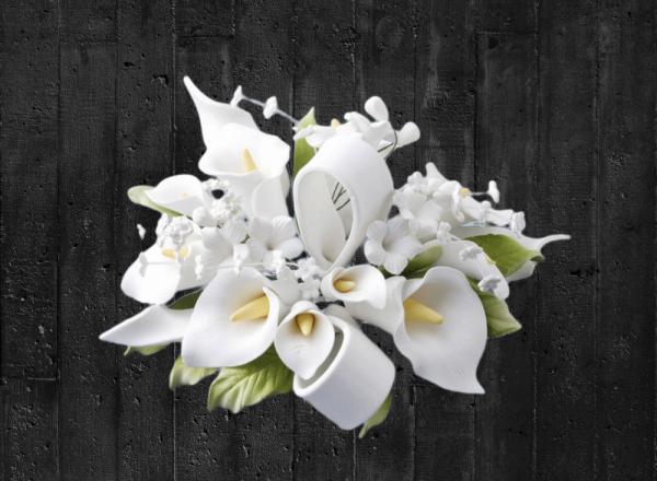 Zuckerblumenbouqet Calla in weiß-grün