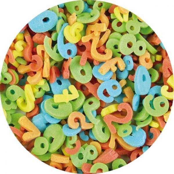 Zuckerkonfetti Zahlen bunt 1-9 2000g