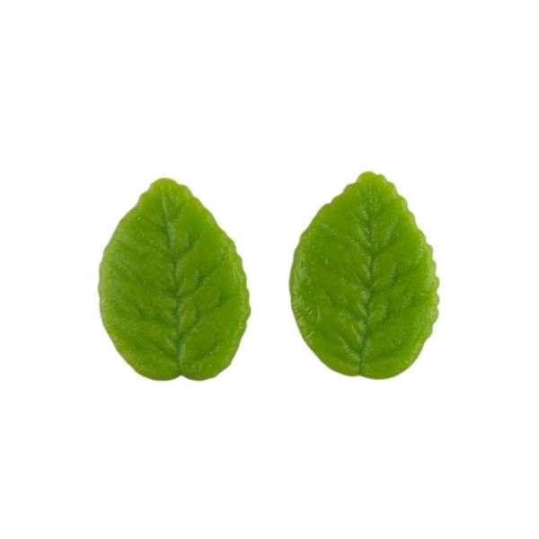 Marzipanblätter, grün, groß 45mm 24 Stck