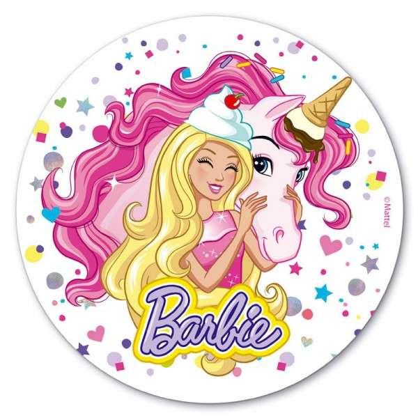 Esspapieraufleger Barbie 20cm