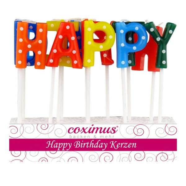 Tortendekoration Geburtstagskerzen Happy Birthday