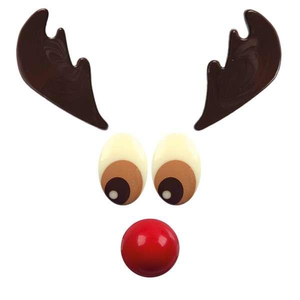Schokolade Red nose Reindeer 54 Sets