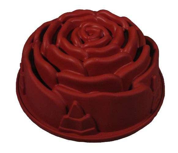 Silikon Backform Gugelhupf Rose Blüte