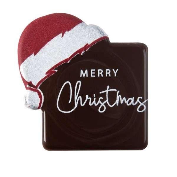 Schokoladendeko Frohe Weihnachten mit Mütze ca.35mm 120 Stck