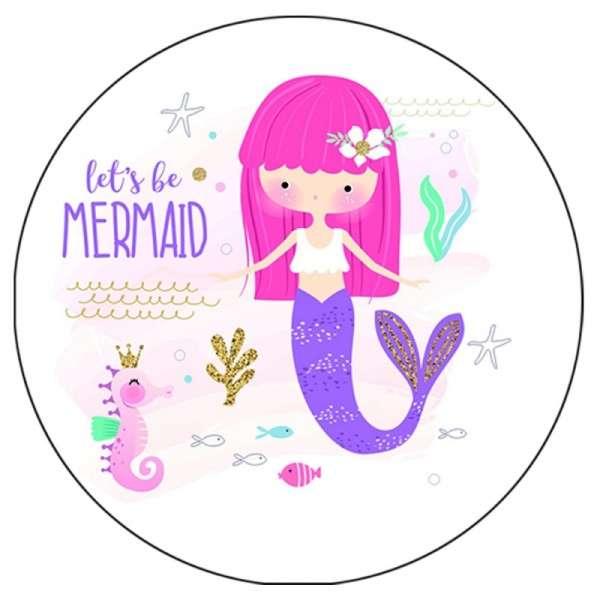 Tortenaufleger lets be Mermaid 10 cm